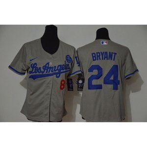 Youth LA Dodgers Kobe Bryant Gray Jersey